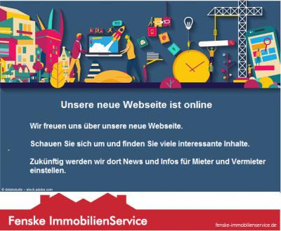 Grafik neue Webseite bei Fenske Immobilienservice aus Waltrop