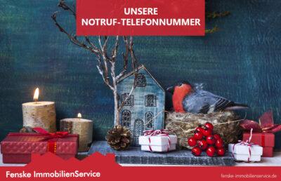 Bild zu Weihnachtsferien und Notfallnummer von Immobilienservice Fenske aus Waltrop