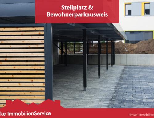 Stellplatz & Bewohner-Parkausweis für Mieter